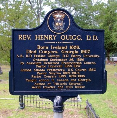 Rev. Henry Quigg, D.D. Marker image. Click for full size.