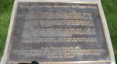 Charles W. Friend House, Observatory, and Weather Station Marker image. Click for full size.