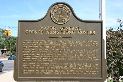 Major-General Georgw Armstrong Custer Marker image. Click for full size.