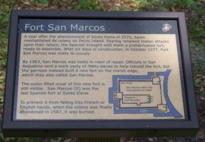 Fort San Marcos Marker image. Click for full size.