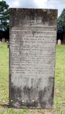 Dr. George Pressley Tombstone image. Click for full size.