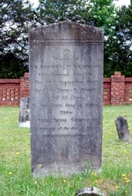 Archibald Kennedy Tombstone image. Click for full size.