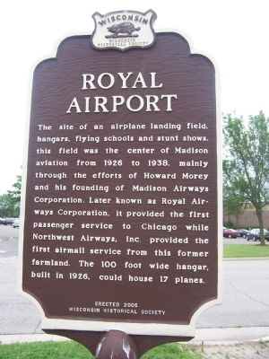 Royal Airport Marker image. Click for full size.