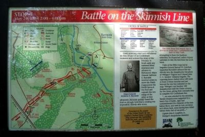 Battle on the Skirmish Line Marker image. Click for full size.