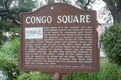 Congo Square Marker image. Click for full size.