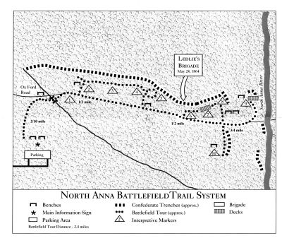 North Anna Battlefield Park Walking Trail. Photo, Click for full size