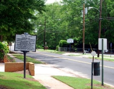 Abbeville&#39;s Confederate Colonels Marker -<br>Looking Southeast Along North Main Street image. Click for full size.