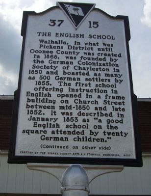 The English School Marker image. Click for full size.