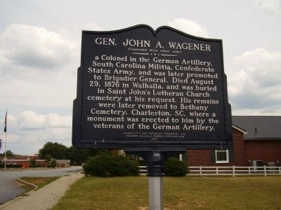Gen. John A. Wagener Marker Photo, Click for full size
