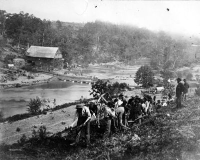 Jericho Mills, Virginia. 50th New York Engineers constructing road on south bank of North Anna River image. Click for full size.