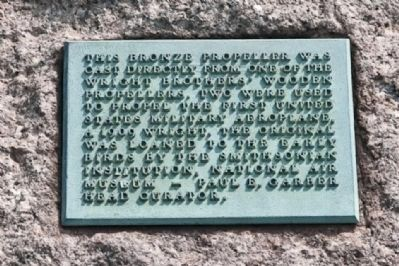 The Early Birds Marker - Propeller Plaque image. Click for full size.