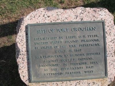 Site of Fort Croghan Marker Photo, Click for full size