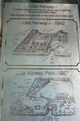 Little Norway Park - plaque at entrance Photo, Click for full size