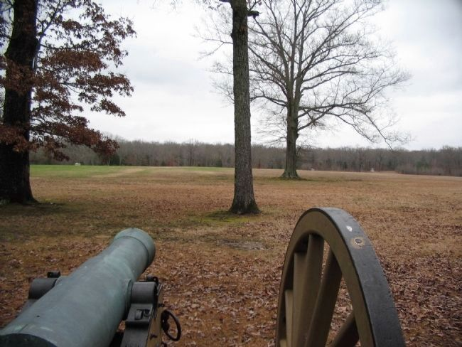 Gunner's View of the Federal Positions on the Sunken Road image. Click for full size.