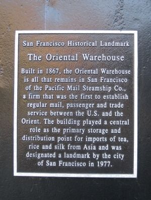 The Oriental Warehouse Marker image. Click for full size.
