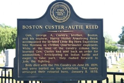 Boston Custer - Autie Reed Marker image. Click for full size.