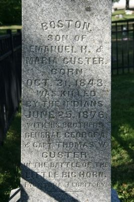Boston Custer Gravestone image. Click for full size.