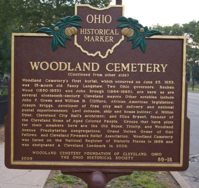 Woodland Cemetery Marker image. Click for full size.