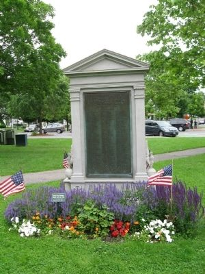 New Milford Civil War Memorial Photo, Click for full size