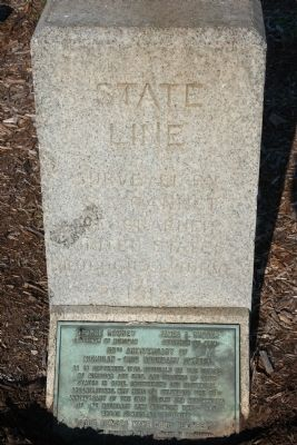 State Line Marker Photo, Click for full size