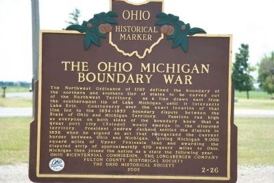 The Ohio Michigan Boundary War Marker Photo, Click for full size
