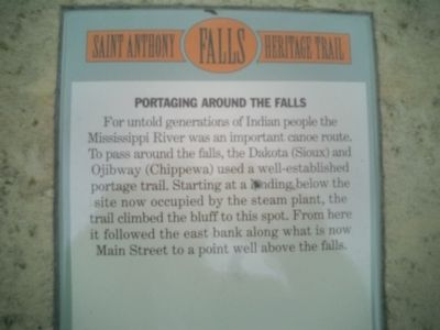 Portaging Around the Falls Marker image. Click for full size.