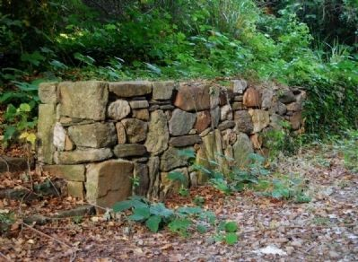 Fieldstone Wall Leading to Mill Ruins Photo, Click for full size