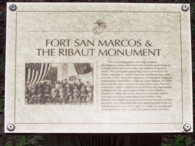 Fort San Marcos- Ribault Monument Marker image. Click for full size.