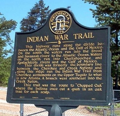 Indian War Trail Marker image. Click for full size.