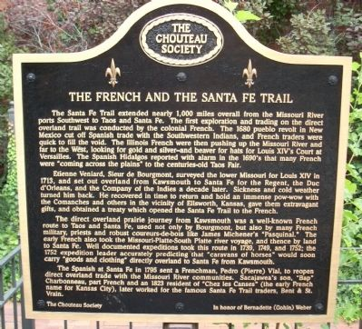 The French and the Santa Fe Trail Marker image. Click for full size.