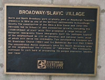 Broadway / Slavic Village Marker image. Click for full size.