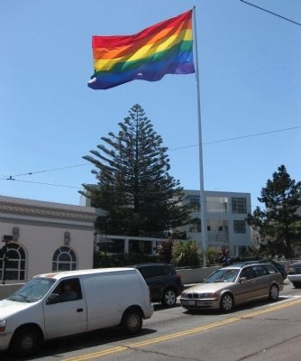 The Rainbow Flag - as seen from across Market Street image. Click for full size.