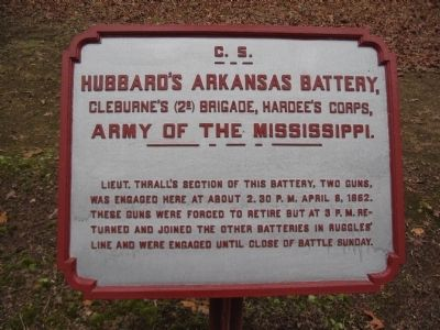 Hubbard's Arkansas Battery Tablet image. Click for full size.