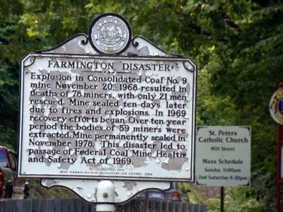 Farmington Disaster Marker image. Click for full size.