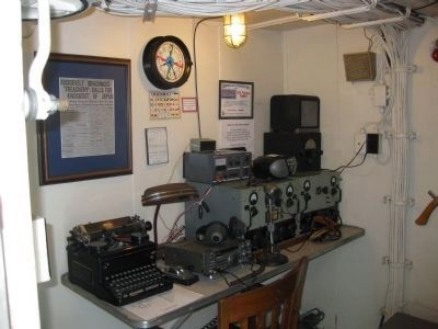 USS Potomac Radio Room Photo, Click for full size