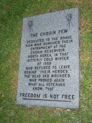 The Chosin Few Marker image. Click for full size.