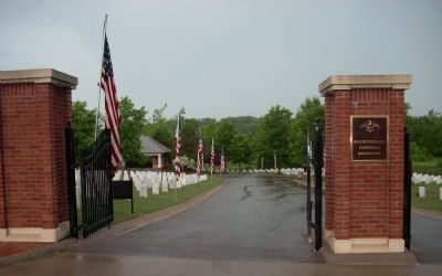 Western entrance to the Fayette National Cemetery image. Click for full size.