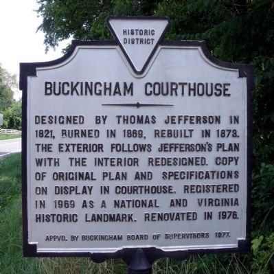 Buckingham Courthouse Marker image. Click for full size.