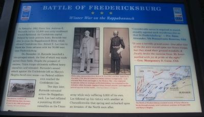 Winter War on the Rappahannock Marker image. Click for full size.