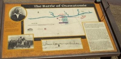 Battle of Osawatomie Marker image. Click for full size.