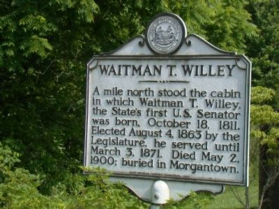 Waitman T. Willey Marker image. Click for full size.