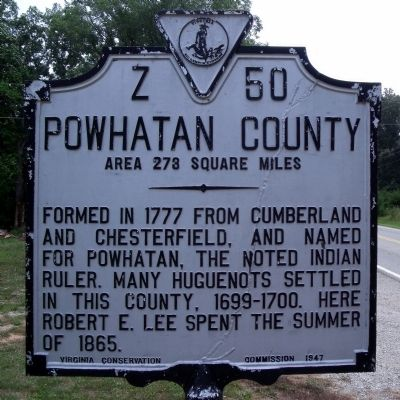 Powhatan County Marker image, Click for more information
