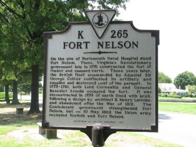 Fort Nelson Marker image. Click for full size.