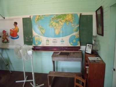 One-Room Schoolhouse Interior. image. Click for full size.