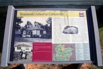 Rosenwald School at Cartersville CRIEHT Marker image. Click for full size.