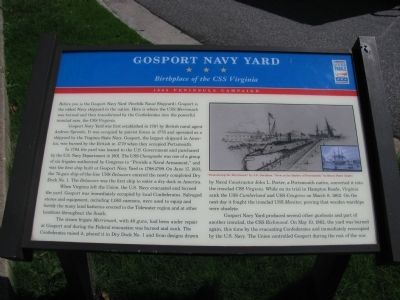 Gosport Navy Yard Marker image. Click for full size.