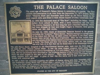 The Palace Saloon Marker image. Click for full size.