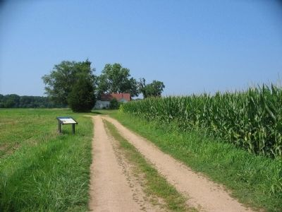 Third Wayside on the Slaughter Pen Farm Trail image. Click for full size.