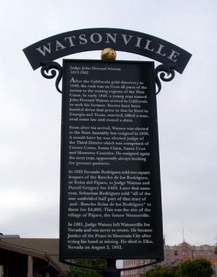 Watsonville Marker image. Click for full size.