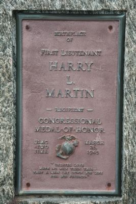 First Lieutenant Harry L. Martin Marker image. Click for full size.